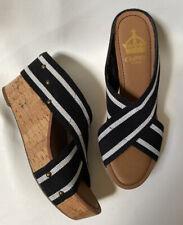 New Crown Vintage Cork Platform Sandals 8
