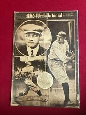 "1922, Babe Ruth, ""Mid-Week Pictorial"" Magazine (No Label) Scarce / Vintage"