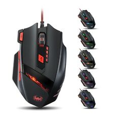 8000 DPI Wired Precision Gaming Mouse Mice For Alienware Laptop PC Win 8 Mac OS