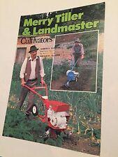 MERRY TILLER Wolseley Webb & Landmaster Cultivators Vintage 1981 Sales Brochure