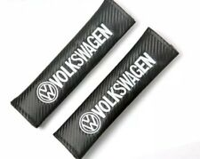 2 x Carbon Fibre Looking Logo Seatbelt Cover Pads for VW Golf MK6 MK7 GTI Polo