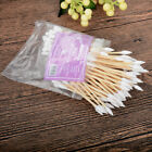 100x Double Tip Makeup Remover Cotton Swabs Buds Eyelash Wooden Design For Kids