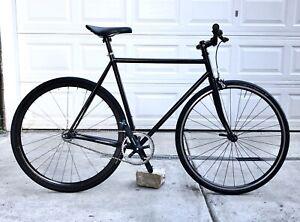 Surly Steamroller 56cm Fixed Gear Bike -  Deep V Reflective Rims SRAM Crank