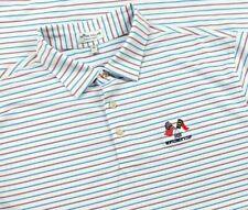 Peter Millar Summer Comfort Polo Shirt Adult XL Colorful Stripe Men Short Sleeve