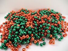 6 Strands Plastic Beads Beaded Garland Bright Red Green Approx. 40'