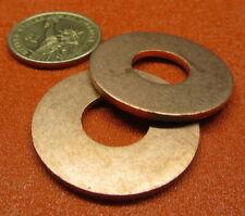 """110 Copper Round Washer,  1/2"""" Screw Size, 1 3/8"""" OD,  10 Pcs"""
