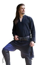 Medieval Viking Dark Blue Tunic Full Sleeves renaissance shirt SCA Larp