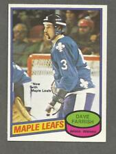 1980-81 O-Pee-Chee OPC Hockey Dave Farish #311 Nordiques Maple Leafs NM/MT