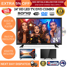"""SONIQ Tv/dvd Combo 24 Inch LED LCD 24"""" Television Built-in DVD Player USB AU"""