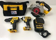 DEWALT Li-Ion Brushless Drill Set With Table Saw DCS393 And Batt Charger DCB101
