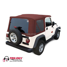 Jeep Wrangler TJ Soft top, 2003-2006, Tinted Windows, Acoustic Vinyl, Bordeaux