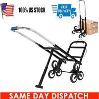 Heavy Duty Stair Climbing Folding Cart 420Lb Capacity Hand Truck Dolly Black