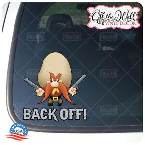 "Yosemite Sam""Back Off!"" Die-cut Printed Waterproof Sticker for Cars/Trucks #YSD1"