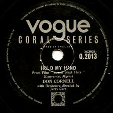 10 inch 78 RPM Record - Don Cornell - Hold My Hand/ I'm Blessed - Vogue Q. 2013