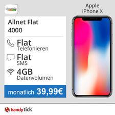 Apple iPhone X mit Vertrag klarmobil Allnet Flat und 4GB Internet 39,99€ mtl.
