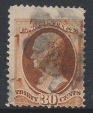 USA - 1888, 30c Chestnut stamp - Used - SG 222 (Cat. £120)