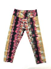 Onzie Leggings S/M Small Medium Crop Yoga Colorful Bottoms