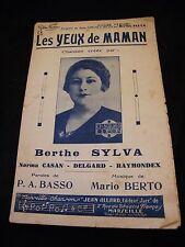 Partition The eyes of Maman Berthe Sylva Music Sheet