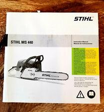 STIHL Chainsaw Instruction Manual MS 440