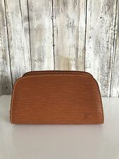 Louis Vuitton DAUPHINE Cipango Gold Epi Leather Clutch Cosmetic Pouch VTG RARE*