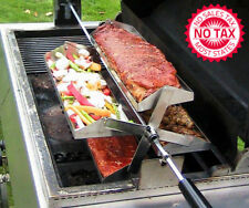 Rib-O-Lator Rotating Barbecue Rotisserie Fits Onto Any Grill