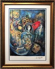 """Marc Chagall  """"Bella"""" Custom Framed Art Limited Edition Offset Lithograph"""