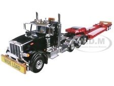 PETERBILT 367 TRI AXLE LOWBOY TRAILER BLACK/RED 1/50 DIECAST FIRST GEAR 50-3379