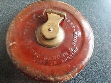Vintage Leather Tape Hockley Abbey Measure by John Rabone & Sons, England