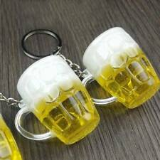 1 Pc Creative Mini Resin Crafts Beer Car Keychain Simulation Beer Cup Keyrings