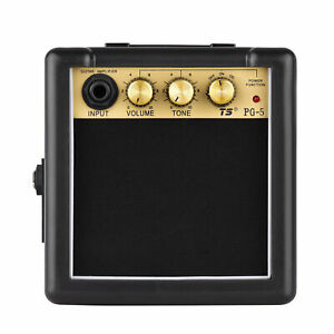 5W Pocket Electric Guitar Amp Amplifier Volume Tone Control Battery Powered
