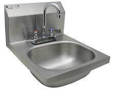 "Wall Mount Hand Sink w/Deck Mount w/No Lead Faucet, Strainer. 14""x16"" Hs-1416Dg"