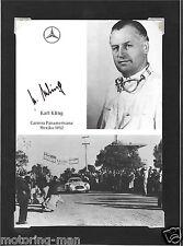 KARL KLING MERCEDES 300SLR CARRERA PANAMERICANA 1952 AUTOGRAPHED SIGNED FOTO