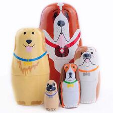 Russian Nesting Dolls Matryoskha Dolls Wooden Animal Handicraft Toy Gift BS