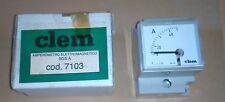 AMPEROMETRO ELETTROMAGNETICO ANALOGICO BARRA DIN 50/5A C/ ALTERNATA CLEM 7103