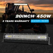 "20""Inch 450W LED Light Bar Quad Row Spot Flood Combo Driving Trucks SUV ATV Boat"