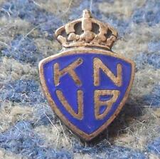 NETHERLANDS SOCCER FOOTBALL FEDERATION 1960's SMALL SILVER 800 PIN BADGE