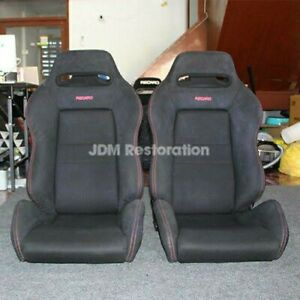 Honda SR3 Recaro Lower Bolster Covers Type R B18C B16 Alcantara Civic Integra