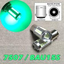 Rear Turn Signal Bulb BAU15S 7507 PY21W 33 SMD samsung LED Green W1 JAE