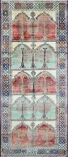 "Antique Charming Oushak Gallery Carpet, 5'4"" x 12'9"", #15535"