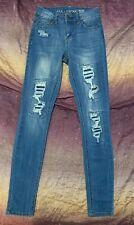 Vanilla Star Mid Rise Distressed Skinny Jeans Size 1