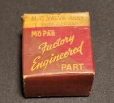 1927 - 1949 Chrysler Desoto Dodge Plymouth brake master cylinder check valve Nos
