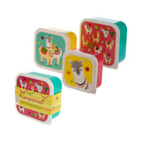 Llama Lunchbox - SET OF 3 - Lunch Snack Tubs Picnics Children's Food Storage Box