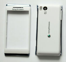 Full white Housing Cover Facia Fascia Faceplate case for Sony Ericsson Aino U10