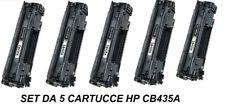 CARTUCCIA PER STAMPANTE HP LASERJET P1005 P1006 SET DA 5 TONER CB435A  35A