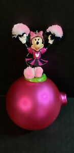 Disney Minnie Mouse Cheerleader Christmas Ornament Ball PRE-OWNED