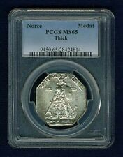 U.S. 1925  NORSE-AMERICAN COMMEMORATIVE MEDAL, UNCIRCULATED, CERTIFIED PCGS-MS65