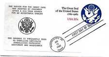 """U602 The Great Seal embossed envelope, set of 8 Quinn """"Anne"""", by Sautter, FDCs"""
