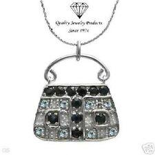 Sapphires & Topazes Handbag Necklace w/2.29ctw Genuine