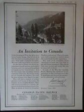 1919 Canadian Pacific Railway Banff Springs Hotel Original Vintage Advertisement