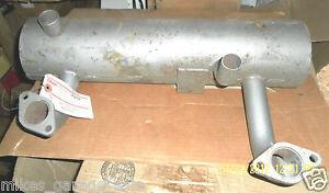 """155-1178 ONAN  MUFFLER  EXHAUST 20"""" x 5"""" DIAMETER CAN  1-1/2"""" DIA. INLETS NOS"""